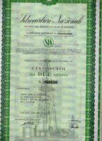 MILANO 1967  * IDROCARBURI NAZIONALI  * AZIONE PETROLIFERA ITALIANA  AUTENTICA