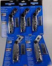 5 Each Personna Retractable Carpet Knife Cutter w/5 Blades Bloody Mary Utility
