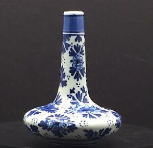 Vintage Delft Blue and White Porcelain Bud Vase 1502 Hand Painted