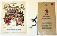 2 Vintage Austrian Bavarian Souvenir Restaurant Menu Menus Hotel Cafe German