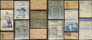 WW2 ILLUSTRATED AIRGRAPH LETTERS + TOBACCO CARDS... PRICED SINGLY