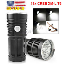 65000Lumens 13x CREE XM-L T6 LED Flashlight Torch 4x 18650 Hunting Light Lamp US