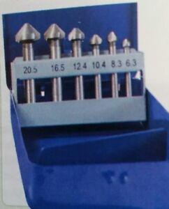 6Pcs HSS Countersink Drill Tool Bit Set For Steel Hard Metals 6.3mm to 20.5mm