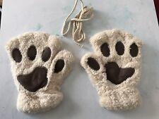 Fluffy Bear Cat Plush Paw Mittens Gloves Cosplay Kawaii