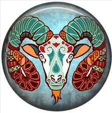 Aries Star Sign Ram Glass 20mm Snap Charm Interchangeable For Ginger Snaps