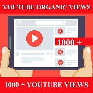 1000+ YouTub Werbung. Organic
