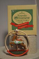Hallmark - Carousel Reindeer - 1987 - Charter Member Collector Club Ornament