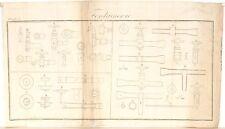 Stampa antica COSTRUZIONE FONTANE rubinetti Fontainerie 5 1814 Old antique print