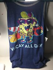 New w/tags Spongebob Squarepants Vacay All Day -  Tank Top T-Shirt, Size Medium