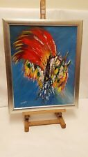 Original Colourful Modernist Abstract Oil on Canvas,  signed by the artist