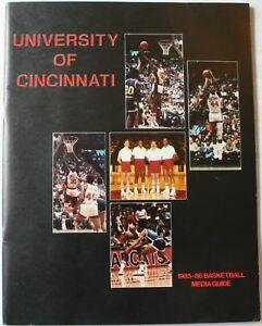 1985-86 University of Cincinnati Bearcats Basketball Media Guide