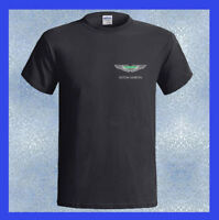 Aston Martin LOGO Luxury Sport Car NEW Men's Black T-Shirt Size S M L XL 2XL 3XL