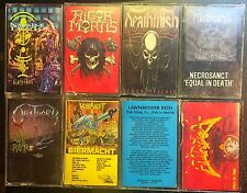 Death Metal Cassette Lot Atheist Necrosanct Deathwish Rigor Mortis Napalm Death