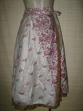 "New VINTAGE Silk sari wrap SKIRT / DRESS FREESIZE (8-16 best) 30"" Long (code70)"