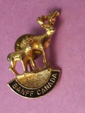 BANFF MOOSE PIN VINTAGE CANADA SKIING SKI HOLIDAY SOUVENIR BUTTON COLLECTOR