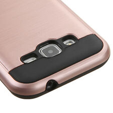 Samsung Galaxy Core Prime G360 - HARD HYBRID BRUSHED METAL ROSE GOLD CASE COVER