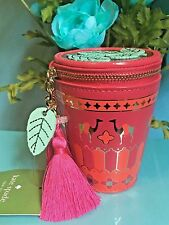 NWT $128 Kate Spade Spice Things Up Full Plume Moroccan Tea Glass Coin Purse Bag