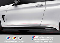 For BMW 4 F32 F33 F36 M PERFORMANCE Side Skirt VINYL STICKERS Stripes