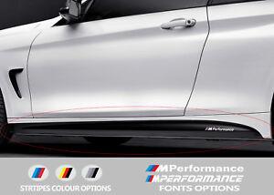 For BMW 4 F32 F33 F36 M PERFORMANCE Side Skirt VINYL STICKERS Stripes
