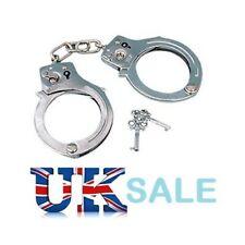 Novelty STEEL METAL HANDCUFFS + KEYS Handcuff Hen Stag Night Sex Aid Policeman