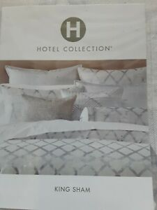 $135 Hotel Collection Dimensional (1) King Sham Pillowcase