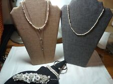 Jewelry Pearls Bracelets and Necklaces *Lot* Vtg -Now Sterling Silver,14k