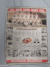 #DD.  1976 ST GEORGE DRAGONS RUGBY LEAGUE   CALENDAR WITH 1975  FIXTURES