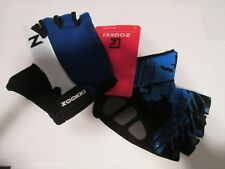 Cycling Biking Bike MTB Half Finger Gloves Black Blue White M Pad Palm
