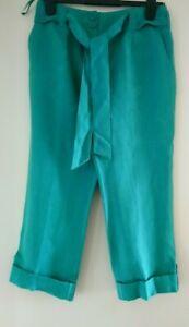 Ladies Crop 3/4 LINEN Trousers/pants & Ex Principles SIZES 10, 12, 14, 16