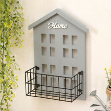 Kids House Shaped Floating Wooden Wall Hanging Shelves Storage Display Decor J6U