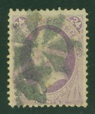 US #153 24¢ purple, used with light fancy cancel, Scott $210.00