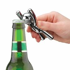 Umbra Drinking Buddy CHROME Plated Bottle Opener Opens bottles with his mouth