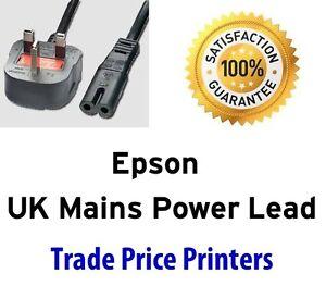 UK Power Lead Cable Epson Expression XP-352 XP432 XP-422 XP-442 XP-452 XP-530