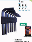 7pc hex key allen wrench set sae metric L wrench driver long arm