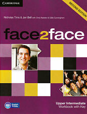 CAMBRIDGE face2face Upper-Intermediate B2 SECOND EDITION Workbook w Key NEW 2013