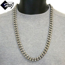 """30""""MEN's Stainless Steel SUPER HEAVY WIDE14x6mm Silver Cuban Curb Chain Necklace"""
