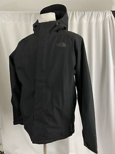 THE NORTH FACE Inlux Men's Large L Black Jacket hooded waterproof fleece lined