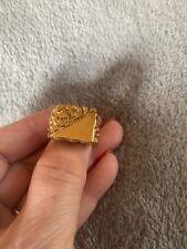 10 Stamped 14Kt Gf Inside Inner Ring Mens 14K Gold Filled Nugget Style Ring Size
