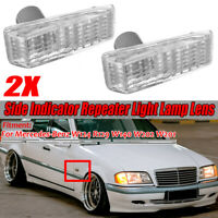 Side Fender Turn Signal Light Lamp-Repeater Cover For Benz W124 R129
