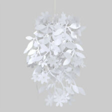 White Shabby Chic Floral Ceiling Pendant Light Lamp Shade Chandelier Lampshade