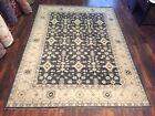 "Genuine Hand Knotted Gray  Oushak Heriz Geometric Area Rug Carpet 8'8""x12',#63"