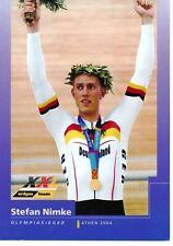 CYCLISME carte cycliste STEFAN NIMKE champion olympique athen 2004
