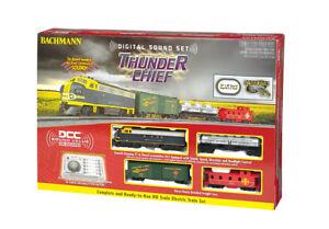Bachmann HO Scale 00826 Thunder Chief Santa Fe Train Set W/ Sound NEW