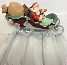 Hallmark Midnight Ride Complete Your Set With Santa & Sleigh Euc