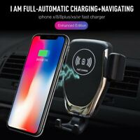 Qi Wireless Car Charger 10W Fast Charging Mobile Phone Holder for Samsung iPhone