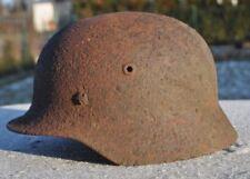 #77 WWII Germany German Original War Damaged Relic Combat Helmet LINER BAND