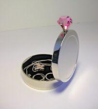 Mirrored Ring/Jewelry BOX w/PINK Mega Carat Jewel Closure  - NIB