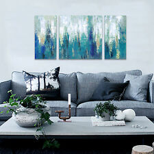 Framed Abstract Painting Printed On Canvas Contemporary Wall Art For Home Decor