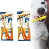 Pet Puppy Dog Cat Finger Tooth Back up Brush Oral Care Toothbrush Toothpas M1C6