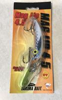 "MAG LIP 4.5 Yakima Bait ""UV LEMON HEAD"" Diving Plug Salmon Fishing Lure NEW USA"